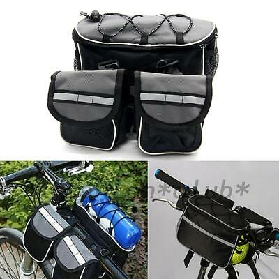 Hot 4 in 1 Bike Bicycle Cycling Front Frame Tube Saddle Bag Pannier Bag Pouch