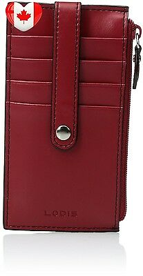 """5"""" Card Case with Zipper,Red,one size"""