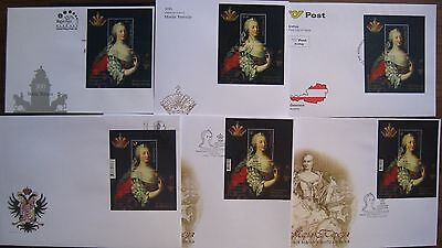 2017 FDC FULL SET 300 ann. of Maria Theresia birth joint issue all countries