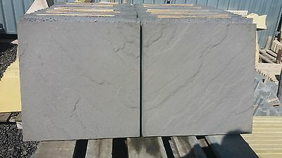 50 CHARCOAL CONCRETE RIVEN PAVING SLABS 450X450X38mm/ 10m2 Cov. (all included)