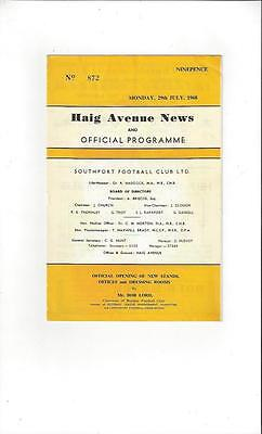 Southport v Burnley Friendly 1968/69 Football Programme - Opening of New Stands