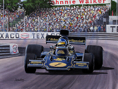 Ronnie Peterson F1 Original Painting + 2018 Calendar by Andrew Kitson