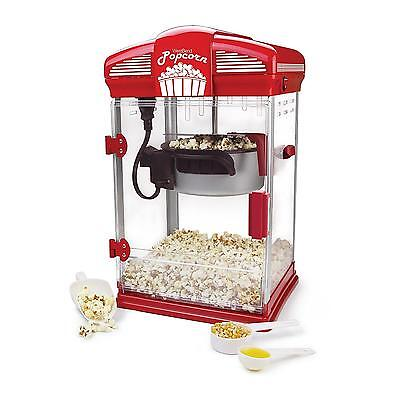Popcorn Machine Maker Deluxe Theater West Bend Durable Carnival Fun Cart Stand