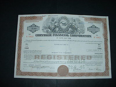 Vintage Chrysler Cars (19423 For 25,000 Shares Certificate Very Beautiful