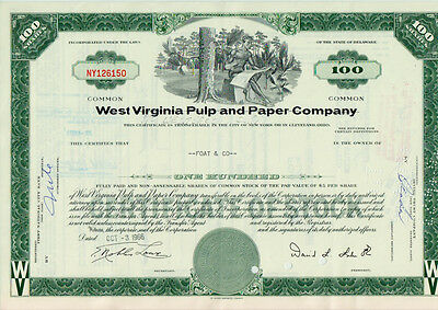 2 x WEST VIRGINIA PULP AND PAPER COMPANY