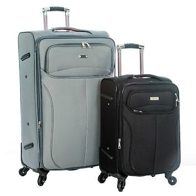 Lightweight Hard Shell 4 Wheel Spinner Travel Luggage Cabin Size Suitcase Bag