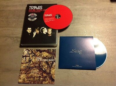 Travis Signed By All 4 CD Insert, More Than Us DVD, Sing Promo CD Fans Package