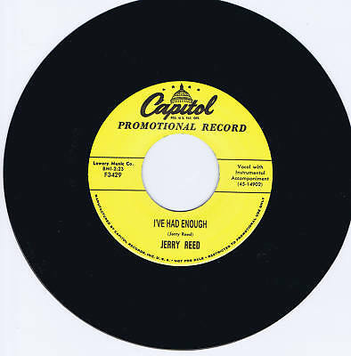 JERRY REED - WHEN I FOUND YOU / I'VE HAD ENOUGH -2 GREAT 1950s ROCKABILLY JIVERS