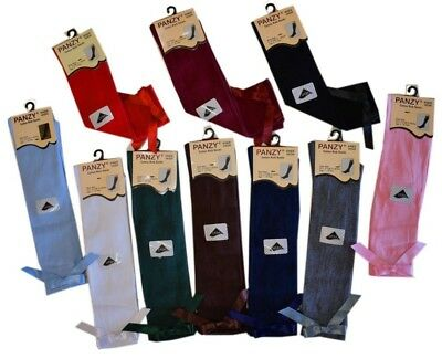 3 or 6 Pairs Girls Knee High Girls School Socks With Bow children kids All Size