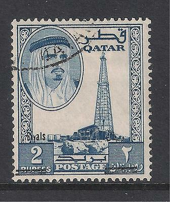 Qatar used stamps - 1966 Definitive with overprint, SG149, used