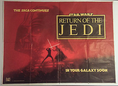 Star Wars - Return of the Jedi Teaser UK quad poster untrimmed printers proof
