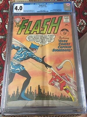 The Flash 117 CGC 4.0 1st Captain Boomerang Suicide Squad Movie