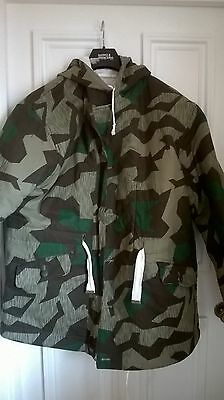 WW2 German Army Camouflage/White Winter Reversible Padded Parka
