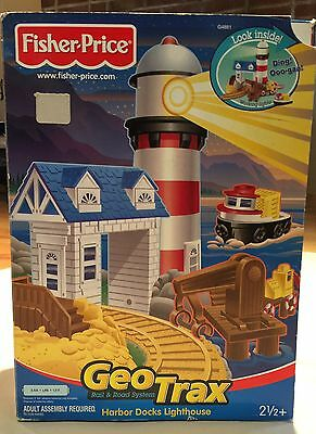 Geotrax Rail And Road System Harbor Docks Lighthouse By Fisher Price New In Box