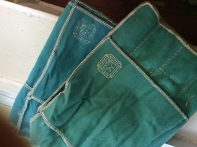 TWO - BIRKS STERLING FLATWARE Anti Tarnish Storage Pouch Wrappers Vintage Blue