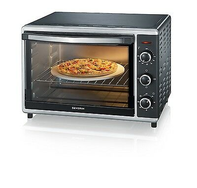 Severin Toast Oven with Convection, 42 Litre, 1800 Watt, Black/ Silver