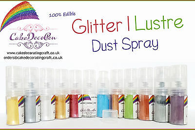 Dust Pump | Glitter | Luster | 100 %Edible | 8 Grams | Cake Craft | Blue Luster