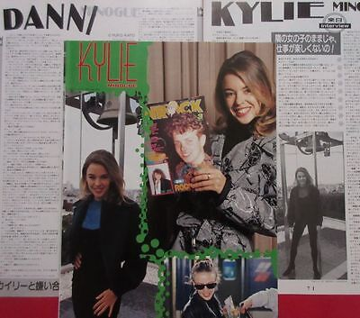 Kylie Minogue in JAPAN Dannii Minogue 1991 CLIPPING JAPAN MAGAZINE IR 5A 4PAGE