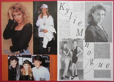 Kylie Minogue 1990 CLIPPING JAPAN MAGAZINE IR 1A 2PAGE