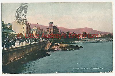 Postcard Esplanade Dunoon Posted 1904  Colour Tinted  Inky  AJ073
