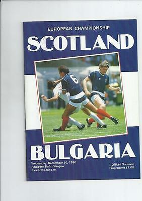 Scotland v Bulgaria International Football Programme 1986