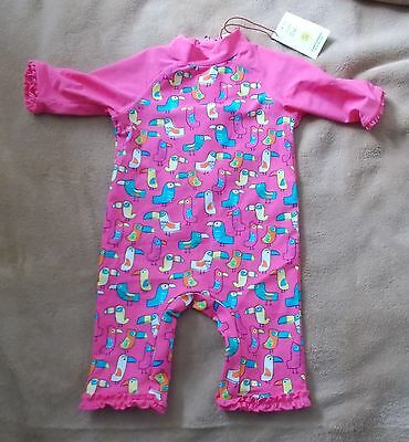 Baby Girl - Sun Safe - Pink 1 Piece Outfit - 12/18 mths - New - Mini Club