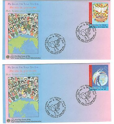 """United Nations Geneva Office """"My Dreams for Peace One Day"""" x 4 issued 2006"""