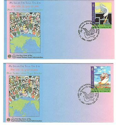 """United Nations NY Office """"My Dreams for Peace One Day"""" x 4 issued 2006"""