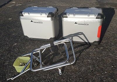 """BMW 1200 GS Touratech ZEGA Pro """"And-S"""" 38/45 ltr panniers+stainless steel rack"""