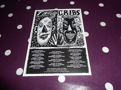The Cribs 2012 Tour Promo Flyer Card
