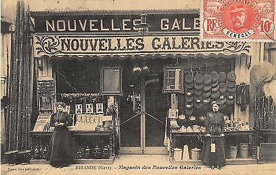CPA 32 MIRANDE MAGASIN DES NOUVELLES GALERIES (cpa rare