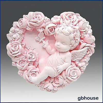 2D Silicone Soap/Plaster/Polymer clay Mold – Baby Rose Fairy