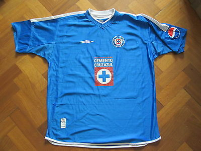 Deportivo Cruz Azul Home Shirt 2002 - Umbro  - Adult XL Mexico