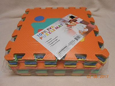 EVA PUZZLE MAT KIDS 10 PACK TRAINS PLAY FOAM FLOOR DURABLE EASY CLEAN MAT Free S