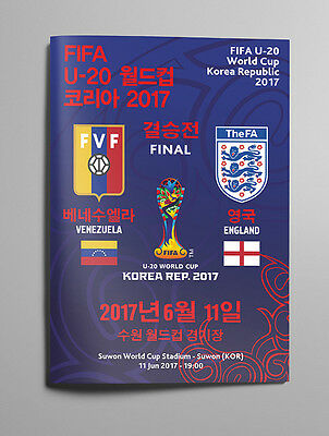 VENEZUELA v ENGLAND 11 June 2017 WC U20 FINAL from Korea RARE FAN edition