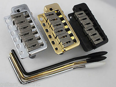 WILKINSON WVP6SB TREMOLO BRIDGE Stainless Steel Saddles in Chrome, Black or Gold