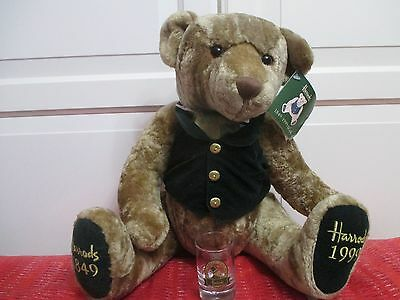 The Green Man Pub Shot Glass Harrods Jointed Bear with Tag 1849-1999 20inch VGC