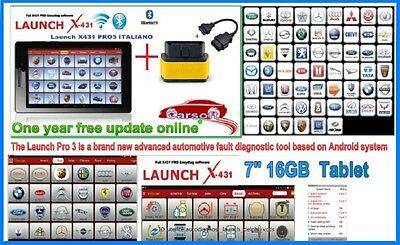 Launch x431 Pro 3  Diagnostic 2017  cars Vans Service reset dpf regen Tablet  7""