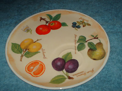 breakfast plate from roy kirkham parchment fruit 21 cm wide