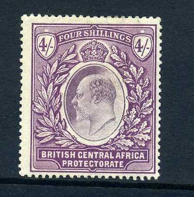 British Central Africa Nyasaland 1903-4 4 shillings MH (a little heavy)