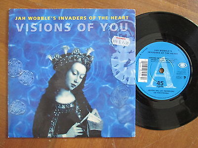"Jah Wobble's Invaders Of The Heart ‎– Visions Of You -  UK 7"" 1992"