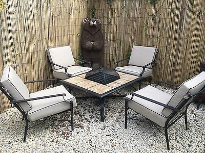 Garden Fire Pit Table And 4 Chairs