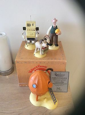 Robert Harrop WALLACE & GROMIT A GRAND DAY OUT COMMEMORATIVE FIGURINE SET