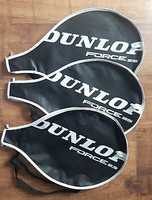 3 x Dunlop Squash Racket Covers