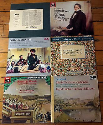 Job Lot Austrian Classical Vinyl LPs Haydn Strauss Schubert EX- To NM