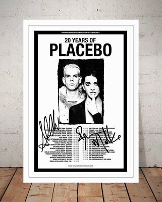 Brian Molko Placebo 2017 Concert Flyer Autographed Signed Print