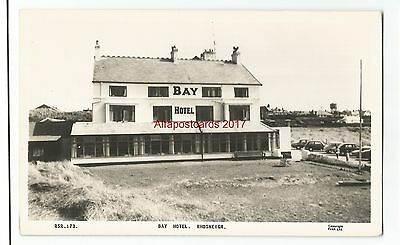 Wales Anglesey Bay Hotel Rhosneigr Real Photo Vintage Postcard