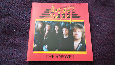The Sweet. 'the Answer' Cd Album.signed By Andy Scott.very Rare.
