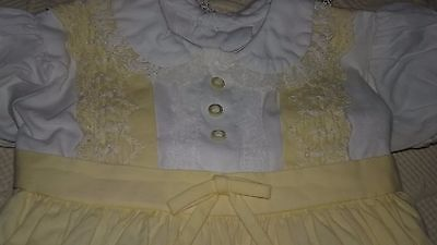 Vintage Baby girl clothes,  unbranded, Fancy Dress plastic pants,  sz 6-9 months