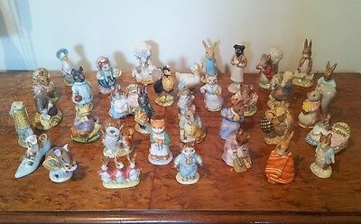 Collection Of 35 Beswick Bp3 Backstamp Beatrix Potter Figures